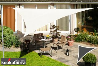 Voile d'Ombrage Ivoire Triangle Rectangle 4,2m - Déperlant - 140g/m2 - Kookaburra®