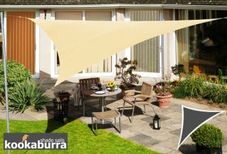 Voile d'Ombrage Sable du Désert Triangle Rectangle 4,2m - Déperlant - 140g/m2 - Kookaburra®