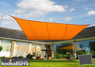 Voile d'Ombrage Terracotta Rectangle 4x3m - Déperlant - 140g/m2 - Kookaburra®