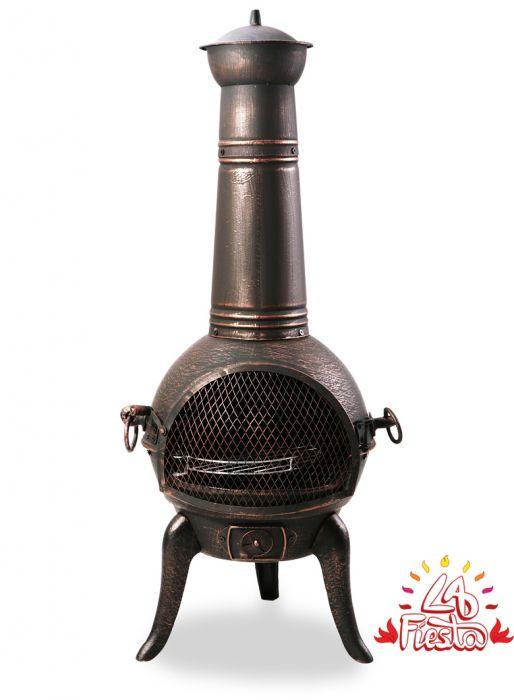 Cheminee D Exterieur Bronze En Fonte San Reno M 109cm 109 99