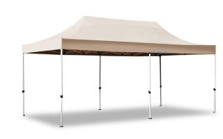 Gazebo Hybrid Plus De 3m x 6m Pop Up Acier / Aluminium - Beige