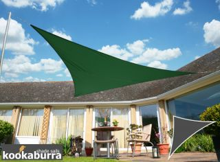 Voile d'Ombrage Vert Triangle Rectangle 4,2m - Déperlant - 140g/m2 - Kookaburra®