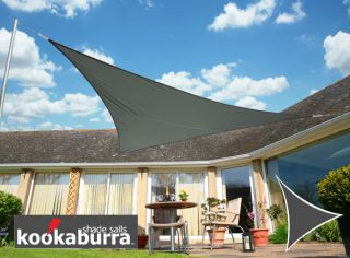 Voile d'Ombrage Charbon Triangle Rectangle 4,2m - Déperlant - 140g/m2 - Kookaburra®