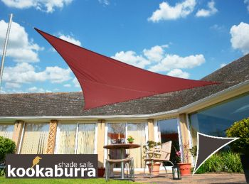 Voile d'Ombrage Marsala Triangle Rectangle 4,2m - Imperméable - 160g/m2 - Kookaburra®