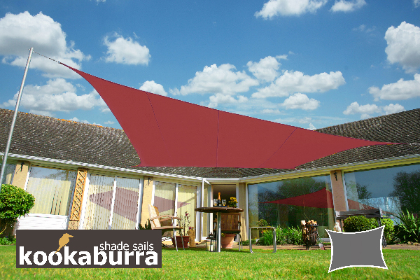 Voile d'Ombrage Marsala Rectangle 5x4m - Imperméable - 160g/m2 - Kookaburra®