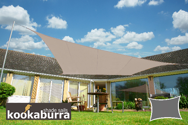 Voile d'Ombrage Taupe Rectangle 4x3m - Imperméable - 160g/m2 - Kookaburra®
