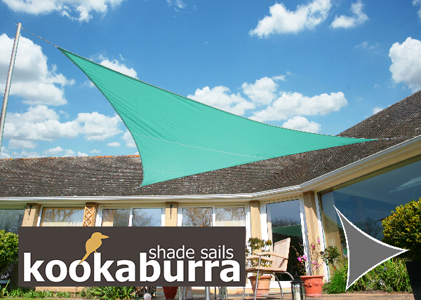 Voile d'Ombrage Turquoise Triangle Rectangle 4,2m - Imperméable - 160g/m2 - Kookaburra