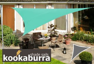 Voile d'Ombrage Turquoise Triangle 5m - Imperméable - 160g/m2 - Kookaburra®