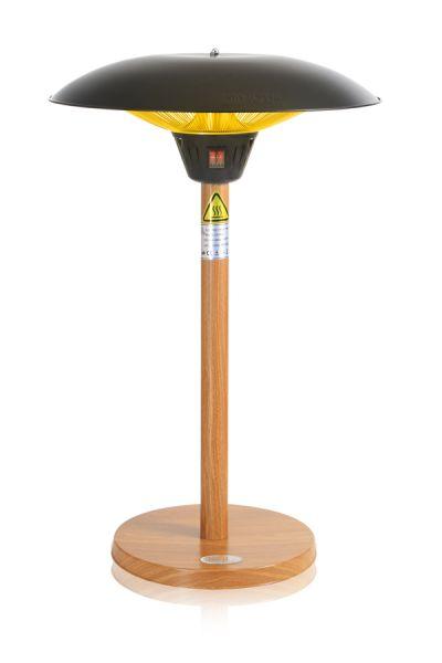 parasol chauffant de table firefly avec pied et socle effet bois de ch ne 2 1kw 184 99. Black Bedroom Furniture Sets. Home Design Ideas
