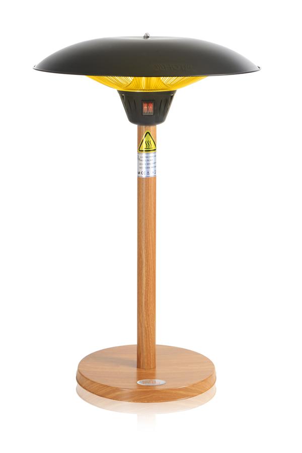 Parasol chauffant de table firefly avec pied et socle for Parasol chauffant de table
