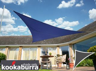 Voile d'Ombrage Bleu Triangle Rectangle 4,2m - Ajouré Premium - 185g/m2 - Kookaburra®