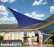 Voile d'Ombrage Bleu Triangle Rectangle 4,2m - Ajouré Premium - 185g/m2 - Kookaburra