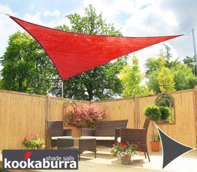 Voile d'Ombrage Rouge Triangle Rectangle 4,2m - Ajouré - 185g/m2 - Kookaburra®