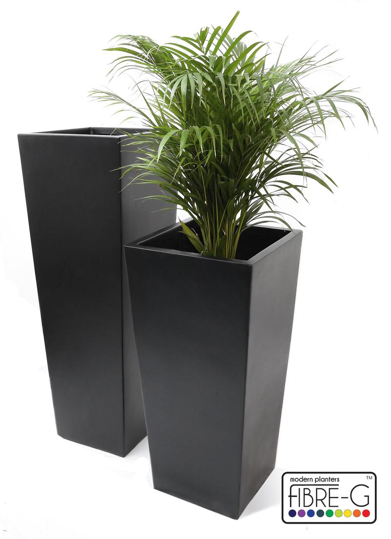Grand Cache Pot Évasé Noir Obscur - Petit 54,99