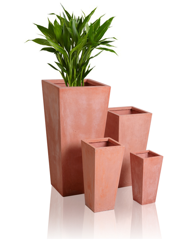 Grand Cache-Pot Évasé Terracotta - H65cm x L32cm