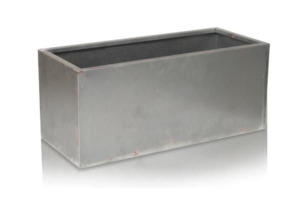 60cm cache pot rectangulaire acier corten 94 99. Black Bedroom Furniture Sets. Home Design Ideas