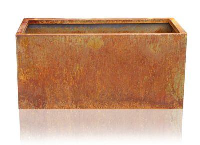 75cm cache pot rectangulaire acier corten 139 99. Black Bedroom Furniture Sets. Home Design Ideas