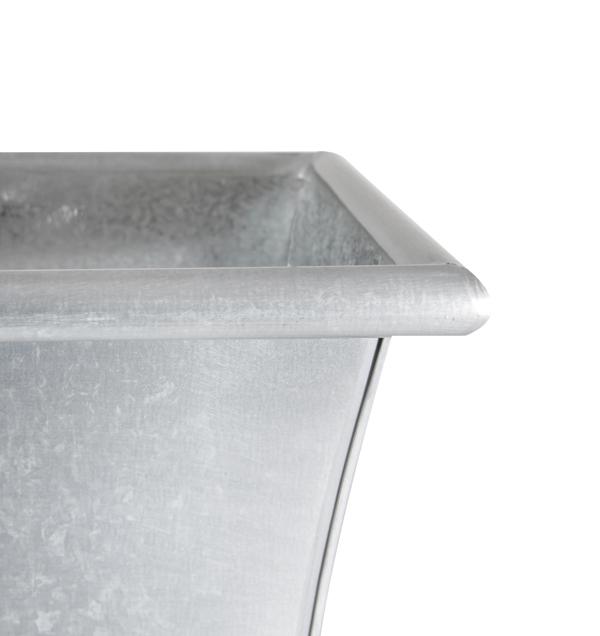 Jardini re rectangulaire zinc galvanis l50cm x h18cm 31 - Jardiniere zinc rectangulaire ...