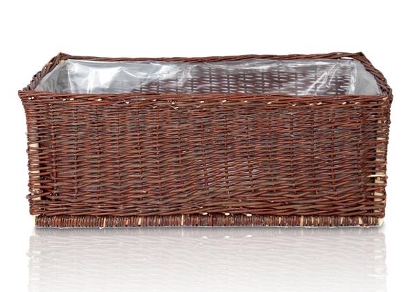 cache pot rectangulaire en osier tress l 95cm 79 99. Black Bedroom Furniture Sets. Home Design Ideas