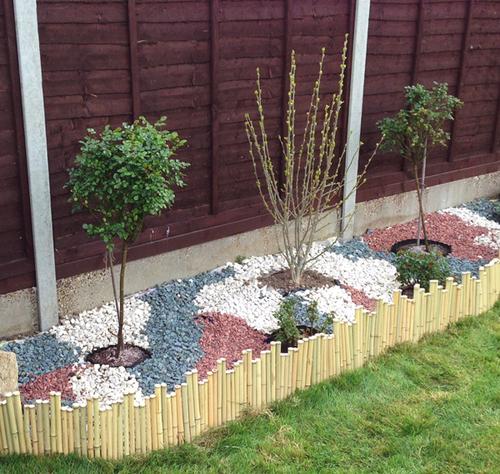 Bordures de jardin d rouler en bambou 1 rouleau for Bordure de jardin en bambou