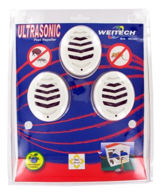 3x Ultrasons Souris Weitech WK3523 STOPMULTI45 - Anti Rongeurs/Insectes