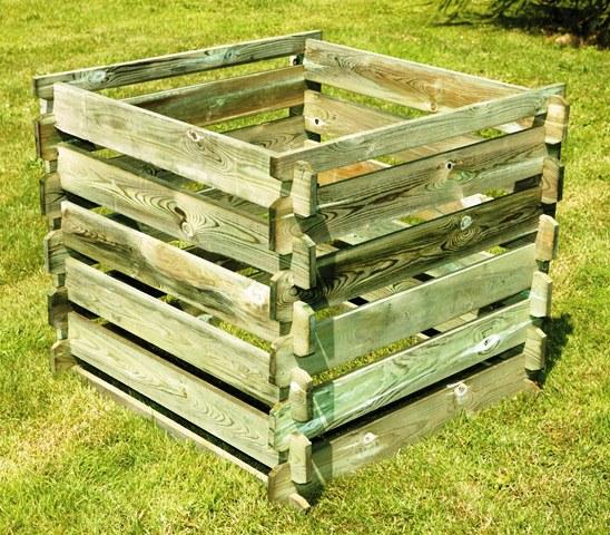 bac compost en bois 550 litres 129 99. Black Bedroom Furniture Sets. Home Design Ideas