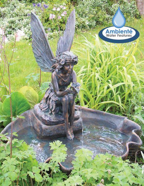 Fontaine De Jardin Solaire Fe Sur Coquillage  clairage Led
