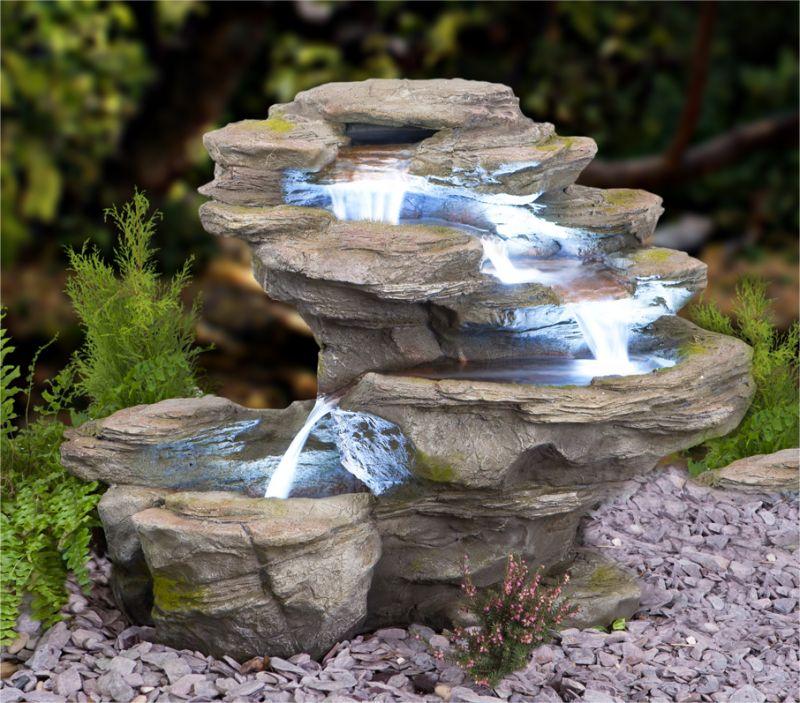 Cascade Chute d\'Eau Ogen 4 Niveaux avec Éclairage LED 249,99 €