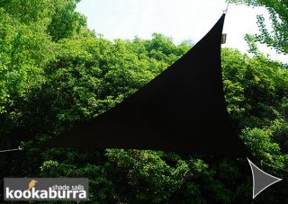 Voile d'Ombrage Noir Triangle Rectangle 4,2m - Imperméable - 160g/m2 - Kookaburra