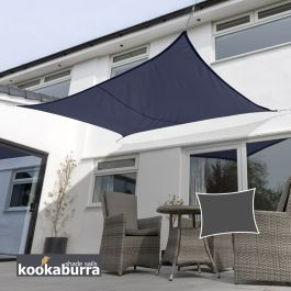 Voile d'Ombrage Bleu Rectangle 5x4m - Déperlant - 140g/m2 - Kookaburra®