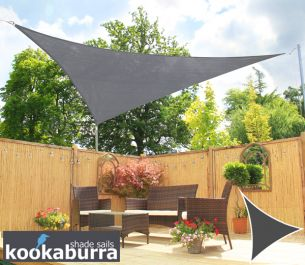 Voile d'Ombrage Charbon Triangle Rectangle 4,2m - Ajourée - 320g/m2 - Kookaburra®