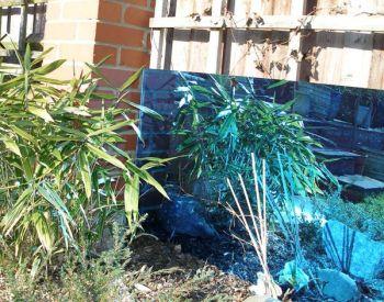 miroir de jardin en acrylique lot de 2 petites carr s bleu 61cm x 61cm 109 99. Black Bedroom Furniture Sets. Home Design Ideas