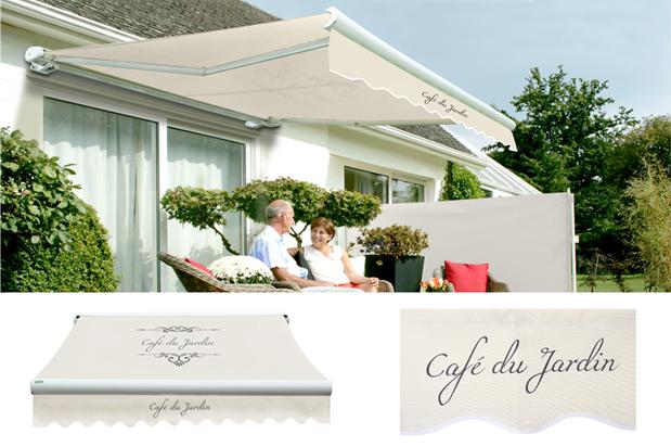 store banne coffre entier manuel caf du jardin ivoire 4m x 3m 909 99. Black Bedroom Furniture Sets. Home Design Ideas