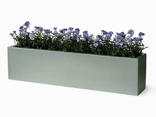 Jardini re rectangulaire en fibre et r sine 125 99 for Jardiniere en fibre rectangulaire