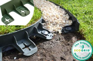 22.5m Flexible Garden Edging (30x 80cm packs) in Green - H4.5cm by EcoGrid™