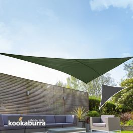 Voile d'Ombrage Vert Triangle Rectangle 4,2m - Ajouré Premium - 185g/m2 - Kookaburra®
