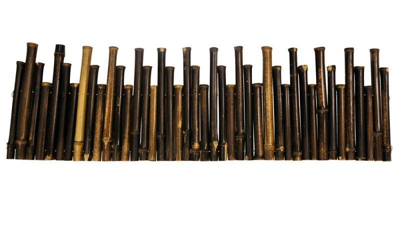 Bordures de Jardin à dérouler en Bambou Noir - 1 rouleau 100x30cm ...