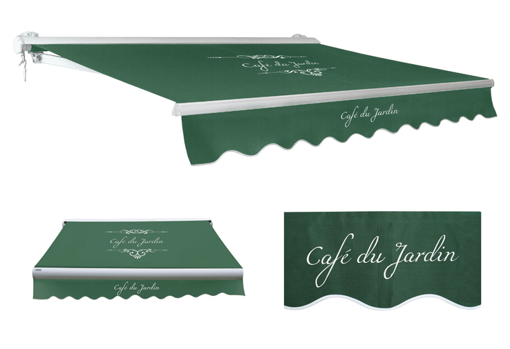 store banne demi coffre manuel caf du jardin vert 4m x 3m 609 99. Black Bedroom Furniture Sets. Home Design Ideas