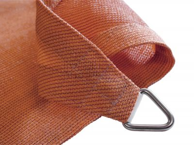 Voile d'Ombrage Terracotta Rectangle 4x3m - Ajourée - 320g/m2 - Kookaburra®