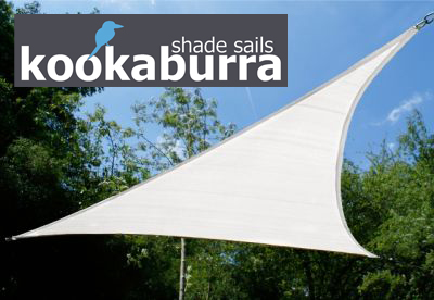 Voile d'Ombrage Blanc Polaire Triangle Rectangle 4,2m - Ajouré - 185g/m2 - Kookaburra®