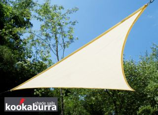 Voile d'Ombrage Ivoire Triangle Rectangle 4,2m - Ajourée - 320g/m2 - Kookaburra®