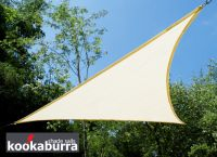 Voile d'Ombrage Ivoire Triangle Rectangle 4,2m - Ajourée - 320g/m2 - Kookaburra