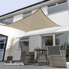 Voile d'Ombrage Mocha Rectangle 5x4m - Déperlant - 140g/m2 - Kookaburra®