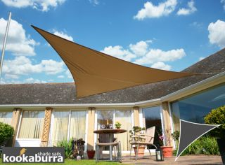 Voile d'Ombrage Mocha Triangle Rectangle 4,2m - Déperlant - 140g/m2 - Kookaburra®
