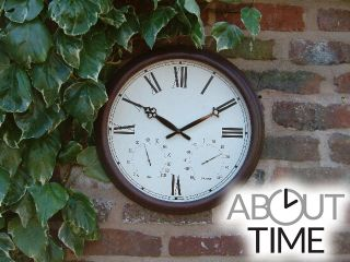 Horloge d'Extérieur Tradition - Thermomètre Hygromètre – 38 cm - About Time™