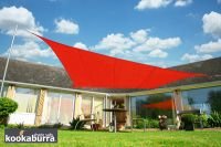 Voile d'Ombrage Rouge Rectangle 4x3m - Imperméable - 160g/m2 - Kookaburra