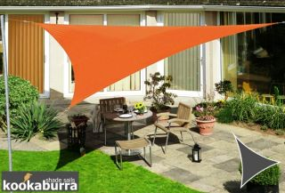 Voile d'Ombrage Orange Triangle 3,6m - Déperlant - 140g/m2 - Kookaburra®