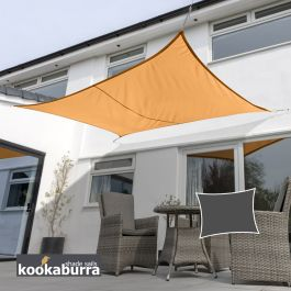 Voile d'Ombrage Orange Rectangle 6x5m - Déperlant - 140g/m2 - Kookaburra®