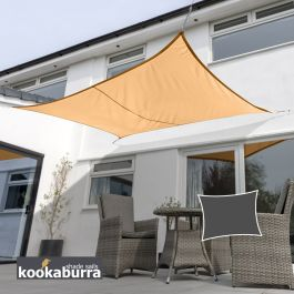 Voile d'Ombrage Abricot Rectangle 3x2m - Imperméable - 160g/m2 - Kookaburra®
