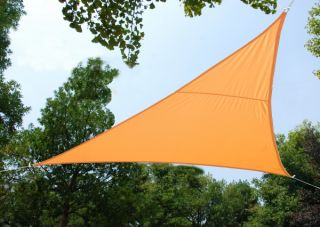 Voile d'Ombrage Abricot Triangle 3m - Imperméable - 160g/m2 - Kookaburra®